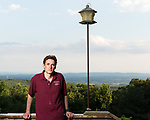 June 30, 2016. Blacksburg, Virginia. <br />  Marc Edwards on the deck of his home outside Blacksburg, VA.<br /> Marc Edwards is a civil engineering/environmental engineer and the Charles P. Lunsford Professor of Civil and Environmental Engineering at Virginia Tech. He is an expert in water quality and corrosion, and his work in Washington DC  and in Flint, Michigan helped to expose high levels of lead contamination in the water supplies of those two cities, triggering investigations into the cause of the pollution.