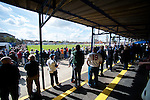 Lowestoft Town 2 Barrow 3, 25/04/2015. Crown Meadow, Conference North. Barrow make the six-hour trip to Suffolk needing a win to secure the title. Support in the covered terrace. Photo by Simon Gill.