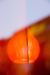 Orange and red abstract lamp detail