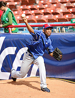 Ramon Ortiz / Dominican Republic - 2009 Caribbean Series, Mexicali..Photo by:  Bill Mitchell/Four Seam Images