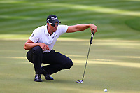 Henrik Stenson on the 18th green during the BMW PGA Golf Championship at Wentworth Golf Course, Wentworth Drive, Virginia Water, England on 27 May 2017. Photo by Steve McCarthy/PRiME Media Images.