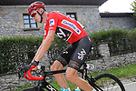Race leader Chris Froome (GBR) Team Sky in action during Stage 18 of the 2017 La Vuelta, running 169km from Suances to Santo Toribio de Li&eacute;bana, Spain. 7th September 2017.<br /> Picture: Unipublic/&copy;photogomezsport | Cyclefile<br /> <br /> <br /> All photos usage must carry mandatory copyright credit (&copy; Cyclefile | Unipublic/&copy;photogomezsport)