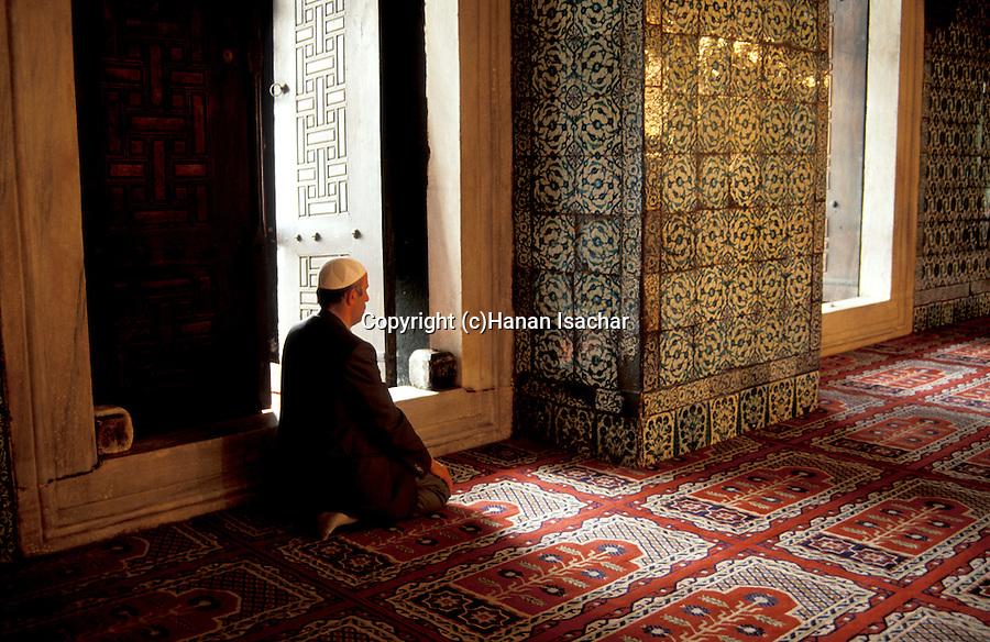 Turkey, Istanbul. Rustem Pasa Mosque