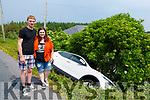 Two German tourists, Daniel Joachims and Diandra Buesen who car slipped off of the verge of the Abbeydorney to Ballyduff road on Thursday morning.