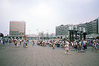 East Berlin: Alexanderplatz looking southwest. Photo '87.