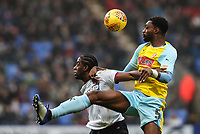Bolton Wanderers' Clayton Donaldson competing with Rotherham United's Semi Ajayi<br /> <br /> Photographer Andrew Kearns/CameraSport<br /> <br /> The EFL Sky Bet Championship - Bolton Wanderers v Rotherham United - Wednesday 26th December 2018 - University of Bolton Stadium - Bolton<br /> <br /> World Copyright © 2018 CameraSport. All rights reserved. 43 Linden Ave. Countesthorpe. Leicester. England. LE8 5PG - Tel: +44 (0) 116 277 4147 - admin@camerasport.com - www.camerasport.com