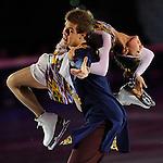 20/10/2012 - Grandi nomi del pattinaggio di figura su ghiaccio, si esibiscono per il Golden Skate 2012 al Palavela di Torino, il 20 ottobre 2012.<br /> <br /> 20/12/2012 - Figure Ice Skating stars exhibit at Golden Skate 2012 at Turin Palavela, on 20th october 2012.<br /> <br /> Elena Ilinykh - Nikita Katsalapov