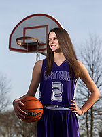 NWA Democrat-Gazette/JASON IVESTER<br /> Sasha Goforth; Division I girls newcomer of the year; photographed on Wednesday, March 15, 2017, outside Jones Center in Springdale for All-NWADG Team