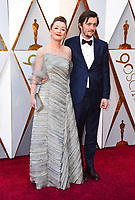 Lesley Manville, left, and Alfie Oldman arrive at the Oscars on Sunday, March 4, 2018, at the Dolby Theatre in Los Angeles. (Photo by Jordan Strauss/Invision/AP)