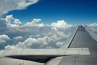 Aerial view of a cloudscape from an aeroplane China.