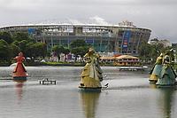 SALVADOR, BA, 17.06.2019: SALVADOR-FONTE NOVA - Vista da arena Fonte Nova na tarde desta segunda-feira (17), bairro Nazaré em Salvador.<br /> (Foto: Sandro Pereira/Código19)
