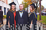 Sinead McNamara , Shane Healy, Tracy Fitzgibbon (Kerry) at the Institute of Technology Tralee  Autumn Conferring of Awards Ceremony at the Brandon Hotel on Friday