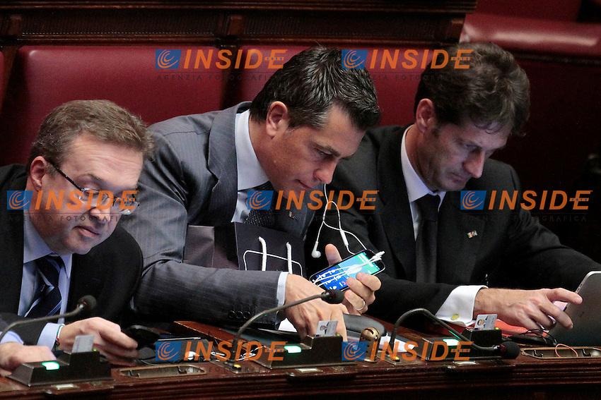 Pier Paolo Pizzimbone, appena subentrato cone deputato alla Camera.Roma 19/12/2012 Camera. Voto Finale sul Decreto Legge Ilva..Photo Samantha Zucchi Insidefoto