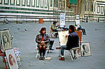 Trabalho de desenhista em Florença. Itália. 1998. Foto de Juca Martins.
