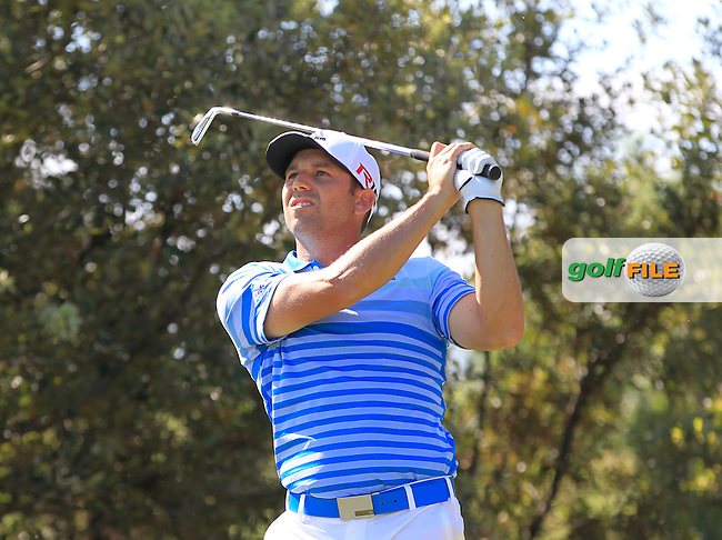 Sergio Garcia (ESP) on the 8th tee during Round 3 of the Open de Espana  in Club de Golf el Prat, Barcelona on Saturday 16th May 2015.<br /> Picture:  Thos Caffrey / www.golffile.ie
