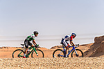 Jhojan Garcia Sosa (COL) Caja Rural-Seguros RGA and Romain Sicard (FRA) Team Total Direct Energie during Stage 1 of the Saudi Tour 2020 running 173km from Saudi Arabian Olympic Committee to Jaww, Saudi Arabia. 4th February 2020. <br /> Picture: ASO/Kåre Dehlie Thorstad | Cyclefile<br /> All photos usage must carry mandatory copyright credit (© Cyclefile | ASO/Kåre Dehlie Thorstad)