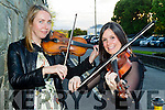 Pictured at World Fiddle Day celebrations held at Scartaglin Heritage Centre on Saturday night last were l-r: Emma O'Leary (Scartaglin) and Emer Twomey (Millstreet).