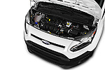 Car Stock 2016 Ford Transit-Connect Van-XL-SWB-(Rear-Liftgate) 5 Door Mini MPV Engine  high angle detail view
