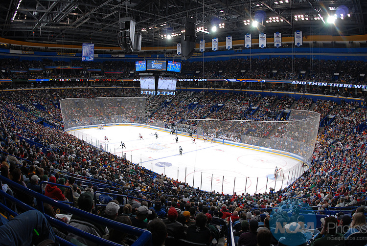 07 APR 2007:  Michigan State takes on Boston College during the Division I Men's Ice Hockey Championship held at the Scottrade Center in St. Louis, MO.  Michigan State defeated  Boston College 3-1 to win the national title. A.J. Phillips/NCAA Photos