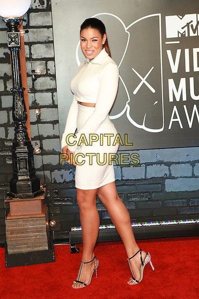 Jordin Sparks<br /> 2013 MTV Video Music Awards held at The Barclays Center, Brooklyn, New York, USA.<br /> August 25th, 2013<br /> VMA VMAS full length white dress side cut out away midriff top skirt<br /> CAP/ADM/MPI/C99<br /> &copy;C99/MPI/AdMedia/Capital Pictures