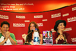 """Robin Strasser, Brittany Underwood, Jason Tam will be reading passages Red Carpet Riot by """"David Van Etten"""" who is actually three writters: Emmy-winning OLTL scribe Chris Van Etten and his friends David Levithan and David Ozanich on August 15, 2009 at Borders, Time Warner Center Mall, New York City, New York. (Photo by Sue Coflin/Max Photos)"""