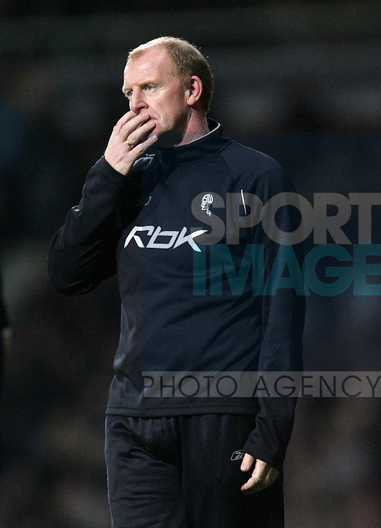 Bolton's Gary Megson looks on