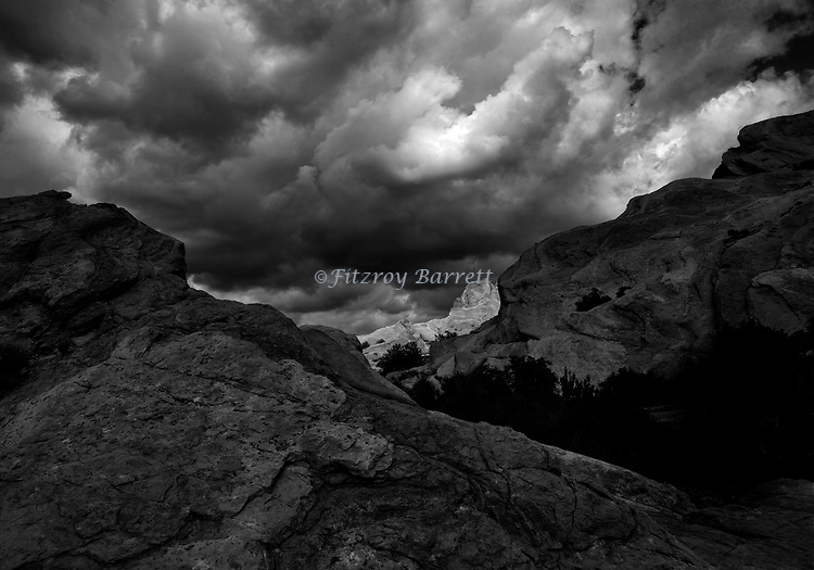 Vasquez Rocks National Park is a 932 acres of spectacular rock formations located in Agua Dulce California. Taken when the clouds were very dramatic on February 28, 2015. ©Fitzroy Barrett