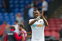Swansea City's Jordan Ayew celebrates his sides victory    <br /> <br /> <br /> Photographer Craig Mercer/CameraSport<br /> <br /> The Premier League - Crystal Palace v Swansea City - Saturday 26th August 2017 - Selhurst Park - London<br /> <br /> World Copyright &copy; 2017 CameraSport. All rights reserved. 43 Linden Ave. Countesthorpe. Leicester. England. LE8 5PG - Tel: +44 (0) 116 277 4147 - admin@camerasport.com - www.camerasport.com