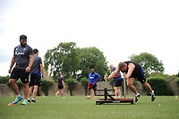 A general view of Bath Rugby forwards training. Bath Rugby pre-season S&C session on June 22, 2017 at Farleigh House in Bath, England. Photo by: Patrick Khachfe / Onside Images