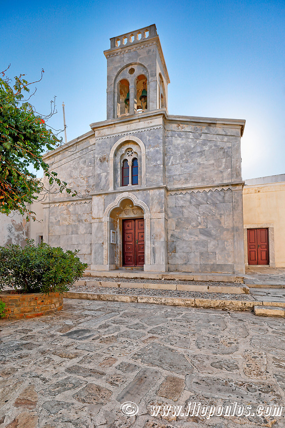 An old church in the castle (kastro) of Chora in Naxos island, Greece