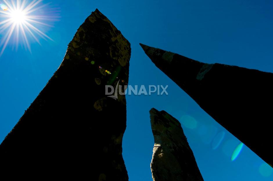 Megaliths near Wogo village, Bajawa, Flores.