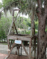 St. Augustine, FL June 27th: The gallows behing the Old Jail in Old Town St. Augustine.  St. Augustine, Florida on June 27th, 2020 Credit Edward Kerns II/MediaPunch