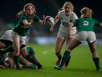 Ireland's Nicole Cronin in action during todays match<br /> <br /> Photographer Bob Bradford/CameraSport<br /> <br /> 2018 Women's Autumn Internationals - England Women v Ireland Women - Saturday 24th November 2018 - Twickenham - London<br /> <br /> World Copyright &copy; 2018 CameraSport. All rights reserved. 43 Linden Ave. Countesthorpe. Leicester. England. LE8 5PG - Tel: +44 (0) 116 277 4147 - admin@camerasport.com - www.camerasport.com