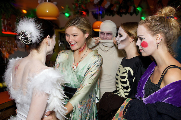 Amy Bailey, Amber Atherton and Misty Miller at The Myflashtrash Halloween Party at Barrio, Soho, London