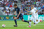 June 19th 2017, Kielce, Poland; UEFA European U-21 football championships, England versus Slovakia; John Swift (ENG) breaks away from the cover of Stanislav Lobotka (SLO)