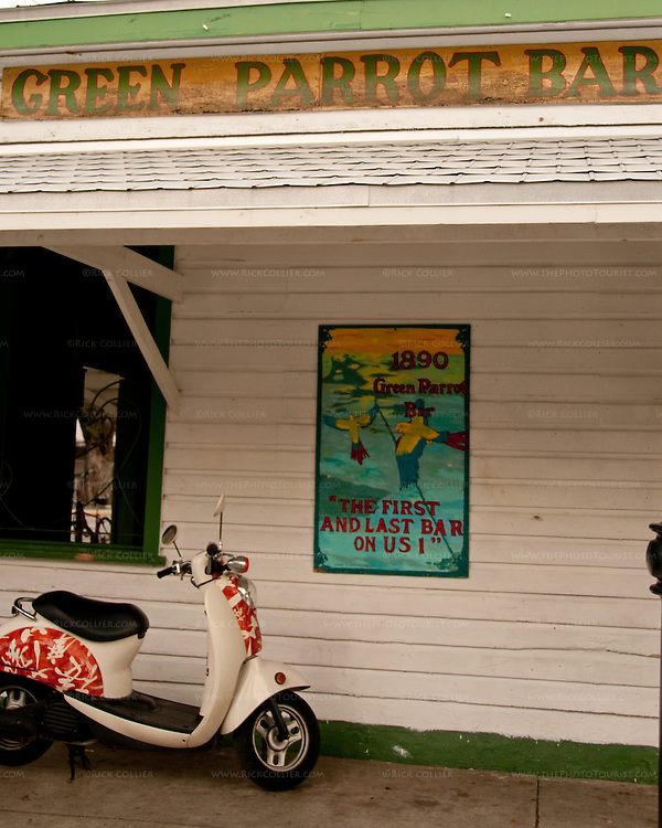 Outside the Green Parrot Bar, Key West, Florida, USA.