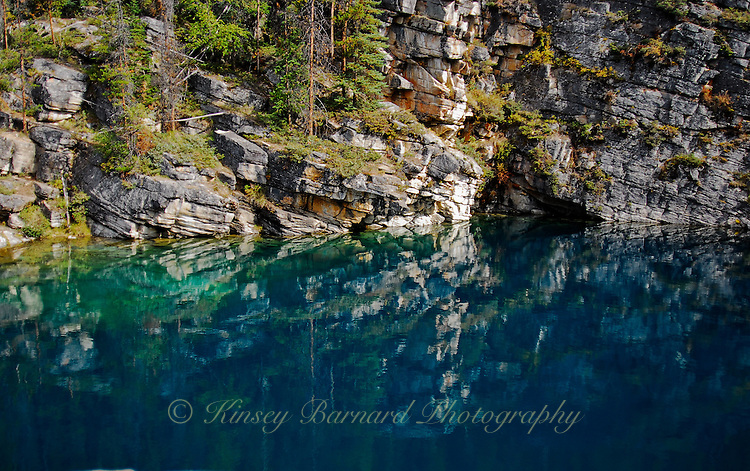 The beautiful azure waters of Horseshoe Lake in Jasper National Park Alberta Canada. I would call it Lapis Lazuli Lake. It's a real gem.