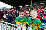 Caden, Sinead and Dean Power at the Kerry County Senior Hurling championship Final between Kilmoyley and Lixnaw at Austin Stack Park on Sunday.