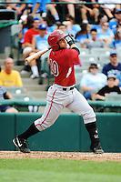 Altoona Curve infielder Adalberto Santos (10) during game against the Trenton Thunder at ARM & HAMMER Park on July 24, 2013 in Trenton, NJ.  Altoona defeated Trenton 4-2.  Tomasso DeRosa/Four Seam Images