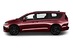 Car Driver side profile view of a 2020 Chrysler Pacifica Limited 5 Door Minivan Side View