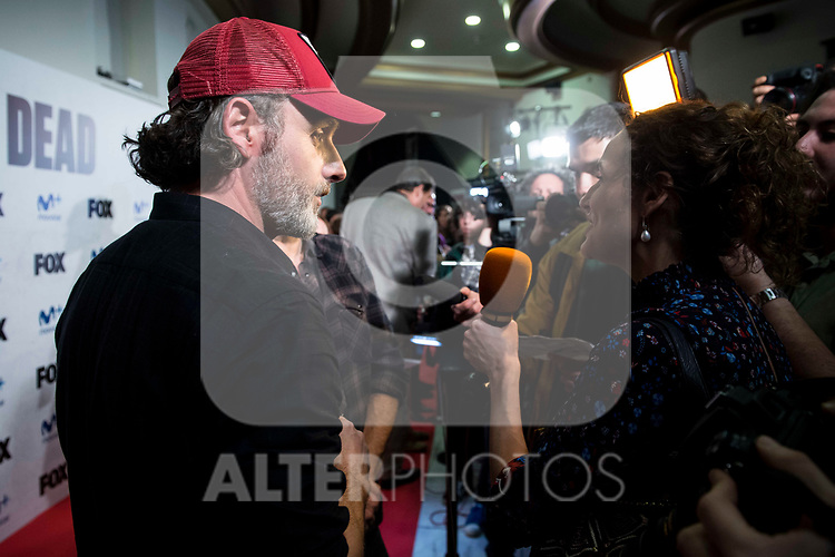"Andrew Lincoln attends to an event with fans of ""The Walking Dead"" at Cines Capitol in Madrid. March 09, 2017. (ALTERPHOTOS/Borja B.Hojas)"