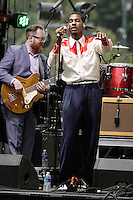 PHILADELPHIA, PA - JULY 4 :  Leon Bridges pictured performing at Wawa Welcome America concert on the Parkway in Philadelphia, Pa on July 4, 2016  photo credit Star Shooter / MediaPunch
