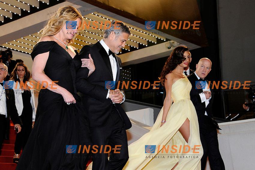 Julia Roberts, George Clooney, Amal Clooney<br /> Festival di Cannes 2016 <br /> Foto Panoramic / Insidefoto