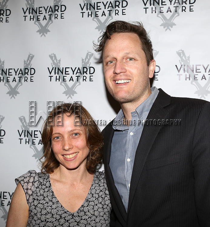 Jenny Schwartz, Todd Almond attending the Opening Night After Party for the Vineyard Theatre Production of 'Somewhere Fun' at the Vineyard Theatre in New York City on June 04, 2013.