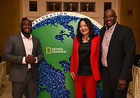 PASADENA, CA - JANUARY 17: Critter Fixers: Country Vets Dr. Vernard L. Hodges (L) and Dr. Terrence Ferguson (R), and SVP, Development & Production, NG Wild Janet Han Vissering attend the National Geographic 2020 TCA Winter Press Tour Party at the Langham Huntington on January 17, 2020 in Pasadena, California. (Photo by Frank Micelotta/National Geographic/PictureGroup)