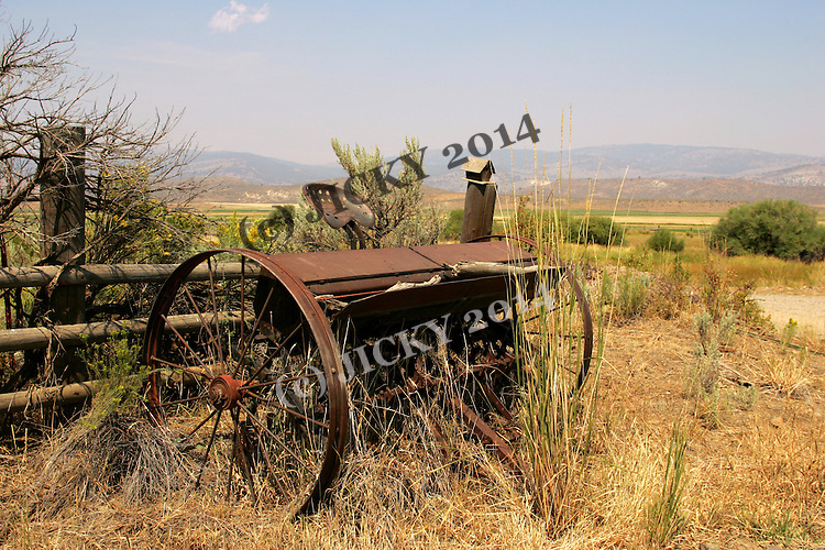 Old tiller off Willow Creek Road