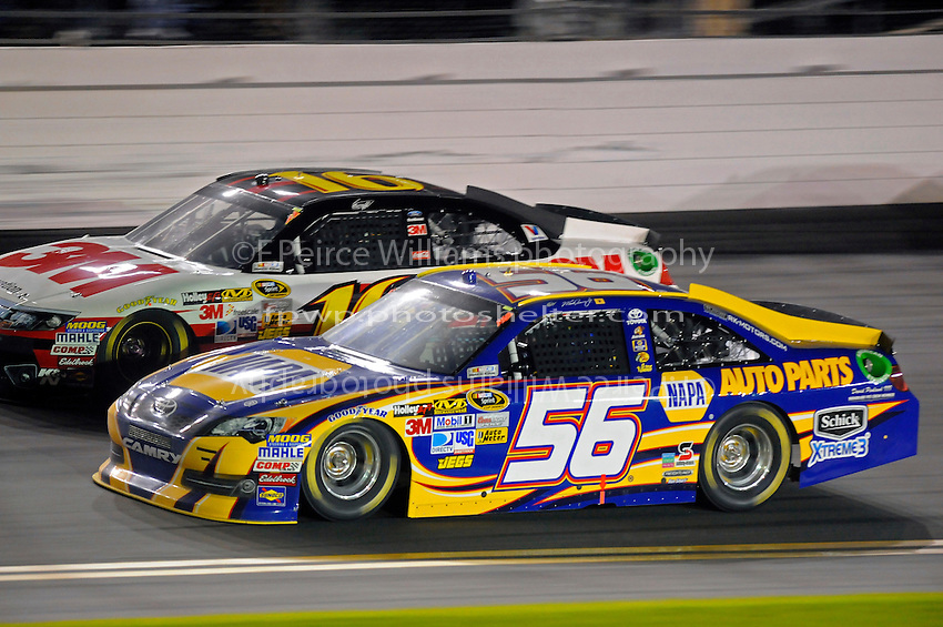 Martin Truex,Jr. (#56) and Greg Biffle (#16)