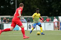 Terrell Egbri of Harlow Town during Harlow Town vs Leyton Orient, Friendly Match Football at The Harlow Arena on 6th July 2019