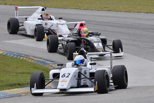 2017 F4 US Championship<br /> Rounds 1-2-3<br /> Homestead-Miami Speedway, Homestead, FL USA<br /> Sunday 9 April 2017<br /> #62 of Raphael Forcier followed by #4 of Jim Goughary Jr &amp; #9 of Mathais Soler-Obel<br /> World Copyright: Dan R. Boyd/LAT Images