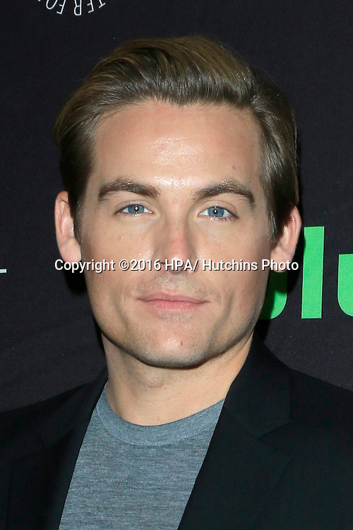 LOS ANGELES - SEP 10:  Kevin Zegers at the PaleyFest 2016 Fall TV Preview - ABC at the Paley Center For Media on September 10, 2016 in Beverly Hills, CA